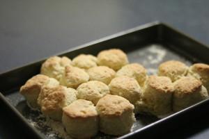 Scones made using Cream Scones Recipe using Thickened Cream and baking powder