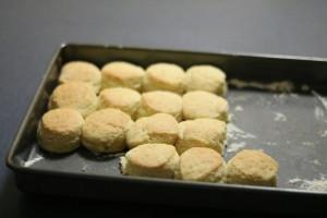 Scones made using Cream Scones Recipe with thickened cream.