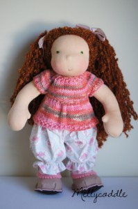 "14"" Moonchild Dolls wearing the Peasant Top"