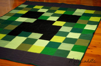Minecraft Creeper Quilt Completed