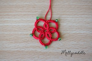 Tatted Flower with beads