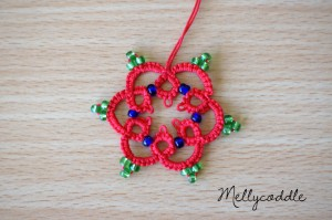 Aonther tatted flower with beads