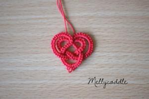 Simple Celtic Heart Needle Tatting