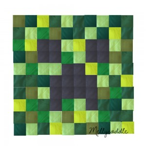 The plan for my Minecraft Quilt