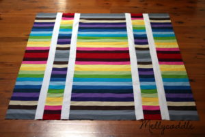 Rainbow Strip & Flip Quilt Top